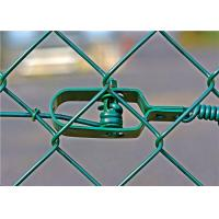 China RAL6005 1.6/2.5mm chain linked fencing , chain wire fencing for sport and gardening on sale