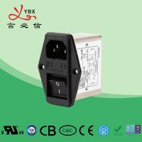 Wholesale Durable Low Pass EMI Filter , IEC Inlet Screw Noise Filter CE ROHS Approval from china suppliers