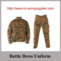 Digital Camouflage Rip-stop Battle Dress Uniform for Army and Police wear