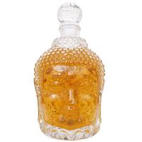 Wholesale Buddha Head Shape Empty Glass Wine Bottles Unique 750ml For Vodka / Whisky With Stopper from china suppliers