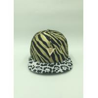 Buy cheap Unique Satin Sunshade Youth Snapback Hats Adjustable Leopard Pattern from Wholesalers