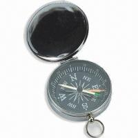 Wholesale Mini Compass with Plastic Case, Small Metal Ring on Top, Customized Colors are Welcome from china suppliers