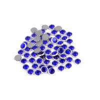 Wholesale 12 / 14 Facets Rimmed Rhinestones Lead Free Round Shape For Nail Art / Shoes from china suppliers