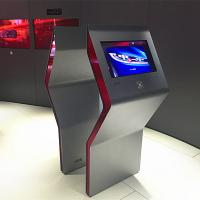 China Free Standing Interactive Touch Screen Kiosk Multi Touch Foil / Film Transparent on sale
