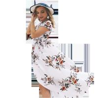 Wholesale Holiday Beach Women'S Short Sleeve Casual Dresses 100% Polyester from china suppliers