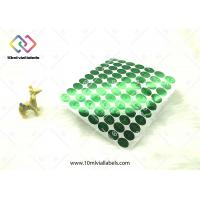 Wholesale Round Vinyl Hologram Security Stickers / Green Hologram Sticker Labels from china suppliers