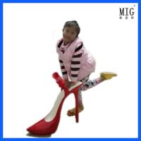 Wholesale mascots figerglass statue for shop window display model shoes statue customize size and color from china suppliers