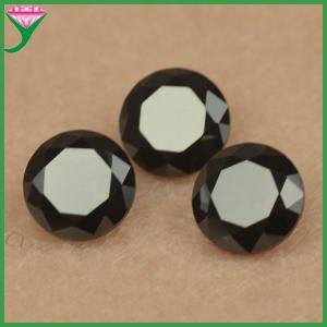 wholesale gem inlay round black nano precious and semi precious stones