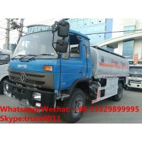 Wholesale Factory customized dongfeng 4*2 RHD 10,000L gasoline tank delivery truck for sale,cheapest dongfeng 10m3 fuel tank truck from china suppliers