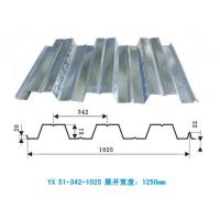 China Waterproof gi corrugated steel decking sheet , metal roof deck for highrise building on sale