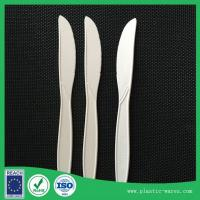 Wholesale white color corn starch biodegradable disposable dinner knife, spoon, fork from china suppliers