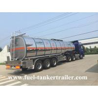 3 Axles petrol / palm oil / diesel tank trailer 50000l with 1 - 7 compartments