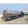 3 Axles 40,000 - 60,000 liters petrol tank trailer / fuel tank truck trailer
