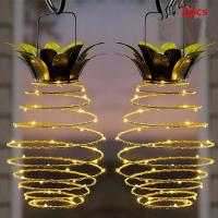 Wholesale Pineapple Hanging Solar Lights,Home Garden Solar Powered LED Lights from china suppliers