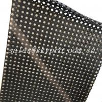 Wholesale Anti Slip Water Drain Holes Natural Gum Rubber Sheet For Swimming Pool from china suppliers
