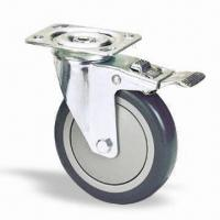 Wholesale Industrial Casters Wheel and Roller with Total Lock and 6202 Precision Ball Bearing from china suppliers