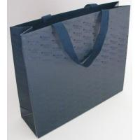 Wholesale Black Color Printed Paper Gift Bags With Flat Rope For Shopping / Advertising from china suppliers