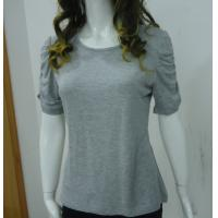 Wholesale Self Tape Grey Womens Casual Tops T Shirts , Fashion Smock T Shirt Tops from china suppliers