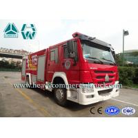 4X2 Howo Water Foam Fire Engine Vehicle With Anti Slip Handrails