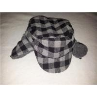 Wholesale Winter outdoor high quality warm checked pattern trapper aviator hat with lining earmuffs for adults from china suppliers