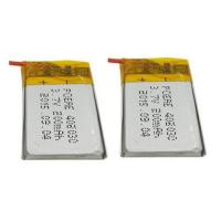 China Green Power Rechargeable Battery Pack / Li Polymer Battery Pack 3.7V 200mAh , 20mm Width on sale