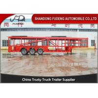 Wholesale Tri-Axles 10 Car Transporter Trailer , Auto Vehicle Transport  Trailer from china suppliers