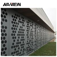 China Architectural perforated metal art panel for facade cladding on sale