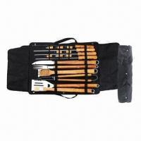 China BBQ Picnic Set, Made of Stainless with Wood Handle on sale