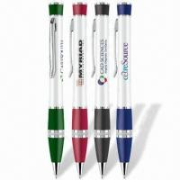 Wholesale Stylish Sleek Pens with Lacquer Finish Barrel and Silver Trims, Twist Action Mechanism from china suppliers