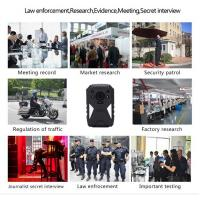 Buy cheap HD 1440P IP67 Police Wearable Video Camera With 4G GPS WIFI Function from wholesalers
