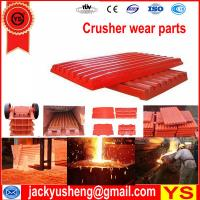 Buy cheap jaw crusher parts, Mn18Cr2Mo jaw crusher spares, Mn18Cr2 jaw crusher spare parts from wholesalers