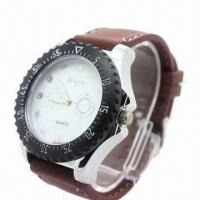Wholesale New style watch, made of zinc alloy case, silicone/leather band and stainless steel back cover from china suppliers