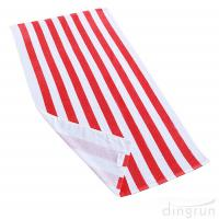 Wholesale Soft Absorbent and Plush 100% Cotton Cabana Striped Beach Pool Bath Towel from china suppliers