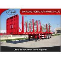 Wholesale Timber Transport Logging Semi Trailer , 2 / 3 Axles Flatbed Trailer from china suppliers