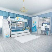 Wholesale E0 Grade Kids' Bunk Bed Furniture, Children Furniture, Home Product, Desk, Chair, Disney, Princess from china suppliers