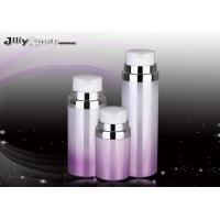 Wholesale Pump Head Cosmetic Plastic Bottles Purple And Red Silver Edge / Lotion Pump Bottles from china suppliers