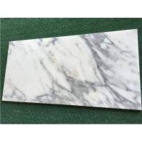 China White Calacatta Marble Natural Stone Tile For Bathroom 10mm Thickness on sale