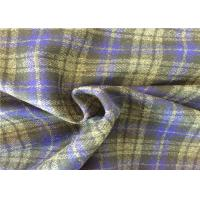 Buy cheap 400g/M Soft Wool Check Fabric , Scarf Tartan Wool Fabric Fashionable from Wholesalers