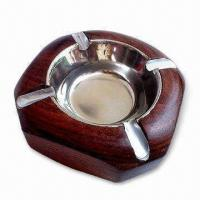 Wholesale Ashtray, Made of Wood, Customized Designs are Acceptable from china suppliers