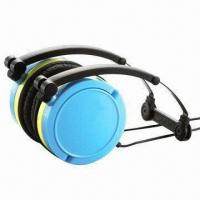 Wholesale Wired headphones for iPhone/iPod/MP3/PC, foldable/rotatable, available in 7 colors/Pantone number from china suppliers