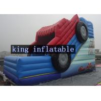 Wholesale Durable Blue / Red Amazing Cartoon Car Blow Up Dry Slide 2 Years Guarantee For Party from china suppliers