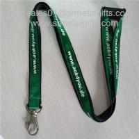 Wholesale Personalized double layer imprinted satin overlaid lanyards, satin layered ribbons, from china suppliers