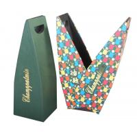 Wholesale New Style 2.5mm Cardboard Wine Packaging Boxes With Handle Hot Stamping from china suppliers