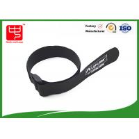 Buy cheap Black velcro strap one side sticky backed velcro , 100% nylon cable ties with buckle from Wholesalers