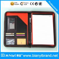 Wholesale Black and red color drawing portfolio with writing pad from china suppliers