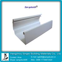 China 2015 Hotsale 7 inch vinyl rain gutter and downspout for PVC drainage system on sale