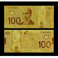 Wholesale Craft Value Collectible Rare Canada Gold Plated Banknotes 100 Dollar from china suppliers
