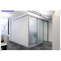 3-15mm  Acid Etched Tempered Glass , sandblasted frosted glass panels