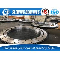 Wholesale VOLVO / DOOSAN Excavator Slewing Bearing , Single Row Four Point Ball Slewing Bearings from china suppliers