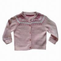 China Baby long sleeves jacquard and embroidery sweaters on sale